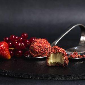 trufe ciocolata, trufe rosii